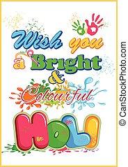 Happy Holi, festival of colors