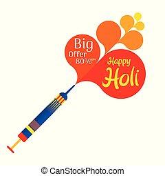 happy holi festival offer banner design