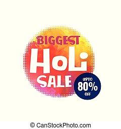 happy holi festival sale design