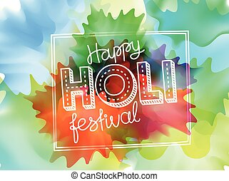 Happy holi festival vector banner. Vector greeting card. Party invitation concept