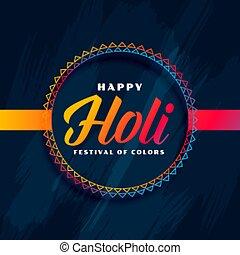 happy holi hindu traditional festival background design
