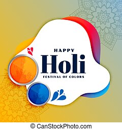 happy holi indian traditional festival background design