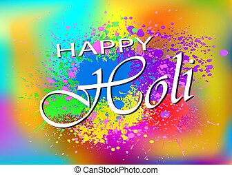 Happy Holi vector background for your festive design. Happy Holi template. EPS 10.