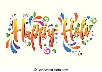 Happy Holi vector isolated illustration on white background