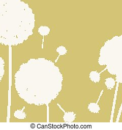 Happy holiday card with dandelions.