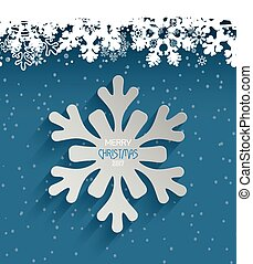 Happy Holiday Christmas Ice Background Snowflakes