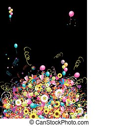 Happy holiday, funny background with balloons for your design