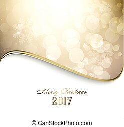 Happy Holiday Golden Christmas Background