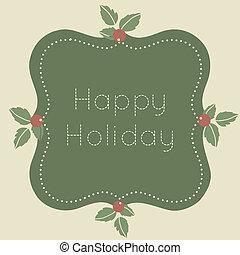 Happy holiday label