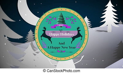 Happy Holidays and A Happy New Year 2020 written on a label