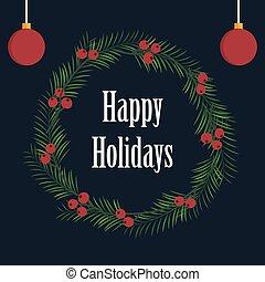 Happy holidays card design