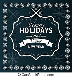 Happy holidays christmas design - Happy holidays christmas ...