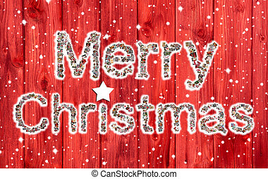 Happy Holidays: Christmas greeting card with text of a ...