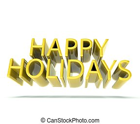 Happy holidays gold background