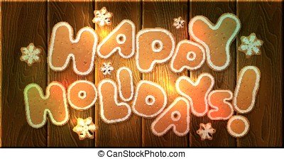 Happy Holidays. Greeting card template