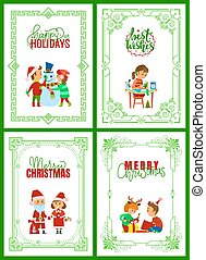 Happy Holidays, Merry Christmas Greeting Cards