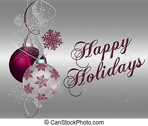 Happy Holidays - mulberry