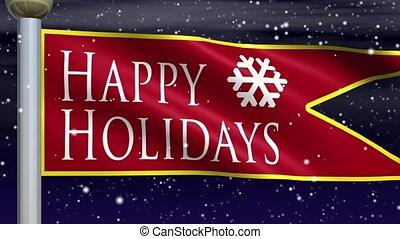 Happy Holidays Seamless Loop - Perfectly seamless (no fade)...