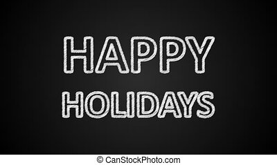 Happy holidays text, 3d rendering, computer generating, can be used for holidays festive design