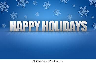 Happy Holidays Text Logo on Snowflake Background - Happy ...