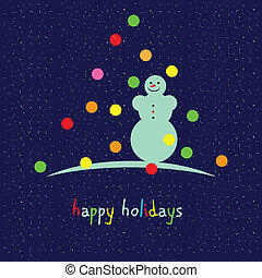 Happy holidays - Universal card for the holiday season. ...