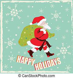 Happy Holidays With Santa Claus