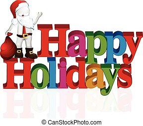 Happy holidays with Santa