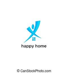 happy home logo vector