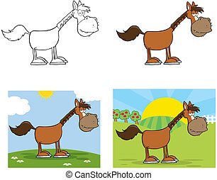 Horse Cartoon Character.Collection