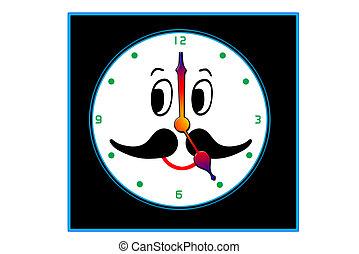 Smiley clock face