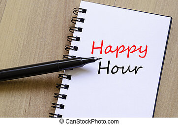 Happy Hour Concept Notepad
