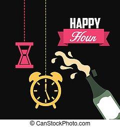 happy hour design, vector illustration eps10 graphic