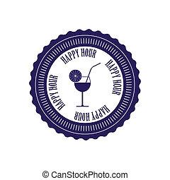 Happy hour label