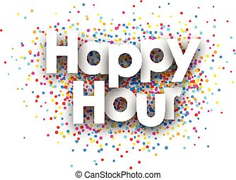 Happy Hour Poster Template Happy Hour Free Coffee Vintage