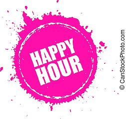 Happy hour splashing vector icon