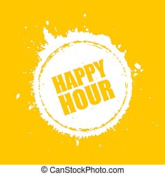 Happy hour vector blot