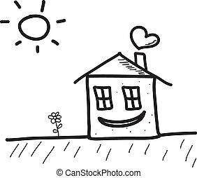 Happy Smiling House Character A Cute Smiling Happy Cartoon House