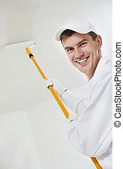 happy house painter worker