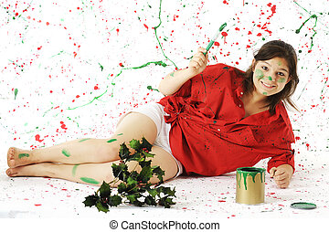 Happy in Christmas Paint