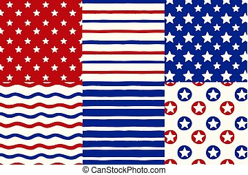 Happy Independence Day, American banners for 4th of July