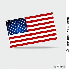 Happy independence day. American Flag design, vector illustratio