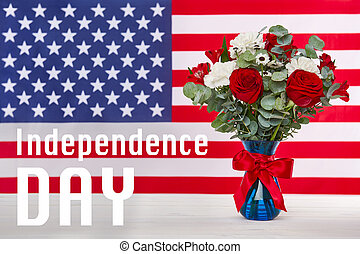 Happy independence day background, 4th of July concept