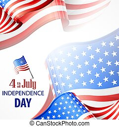 Happy Independence Day banner with 4th july text