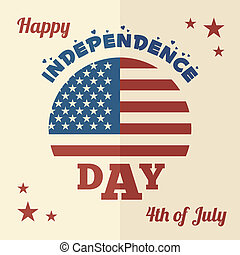 Happy Independence Day flat design