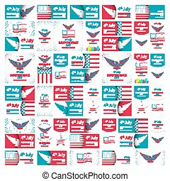 Happy Independence Day - Fourth of July - July 4th Vector Set