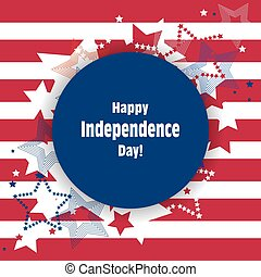 Happy Independence Day greeting card.