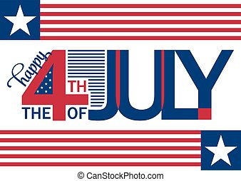 Happy Independence Day horizontal backgrond. July 4th. ...