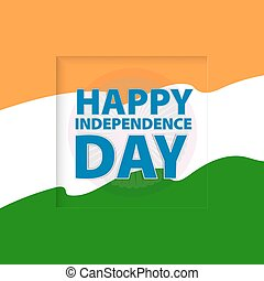 Happy Independence Day india. Vector illustration. greeting card