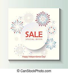 Happy Independence Day Sale banner