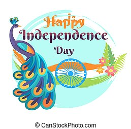 Happy Independence Day Template Vector Poster